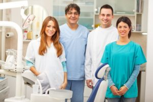 a staff of dental professionals
